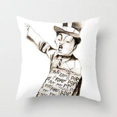 the POPO' paperboy Throw Pillow