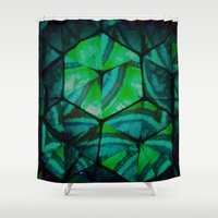third eye Shower Curtains featuring Third Eye by Lotus Effects