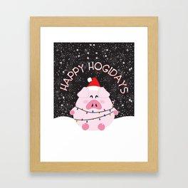Happy Hogidays Framed Art Print