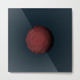 Planet Mars Low Poly Metal Print
