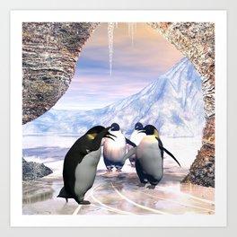 Funny penguin Kunstdrucke