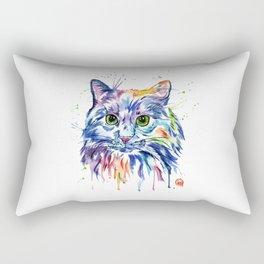 Rainbow Kitty Rectangular Pillow