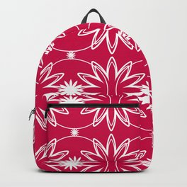 Red & White Pattern Backpack