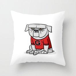 Bulldog from Georgia Throw Pillow