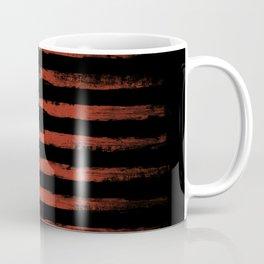 American flag Grunge Black Coffee Mug