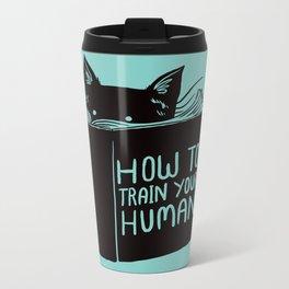 Cat Reader Advice Metal Travel Mug