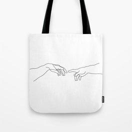 Creation of Adam Minimal Drawing Tote Bag