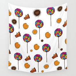 Autumn Desserts Pattern Wall Tapestry