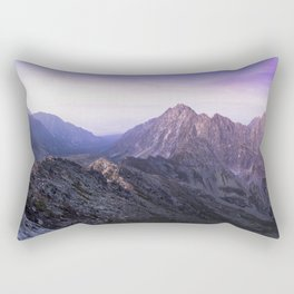 MISTY PURPLE MOUNTAINS Rectangular Pillow