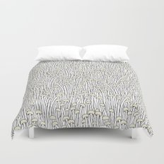 Enokitake Mushrooms (pattern) Duvet Cover
