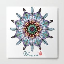 Mandala - Blossom Metal Print