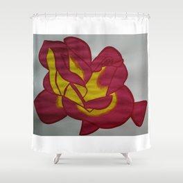 Handmade drawing of flower Shower Curtain