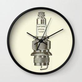 Spark plug. Wall Clock