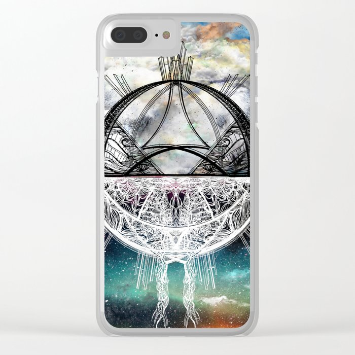 TwoWorldsofDesign Clear iPhone Case