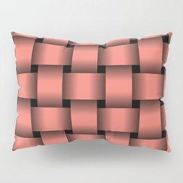 Large Salmon Pink Weave Pillow Sham