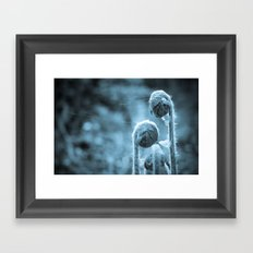 Curl up next to me Framed Art Print