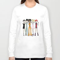 spice girls Long Sleeve T-shirts featuring The Spice Girls by flapper doodle
