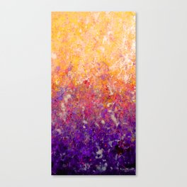 Abstract Art in Sunset Palette Purple Canvas Print