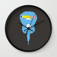 led zeppelin Wall Clocks featuring Lead Zeppelin by eyejacker