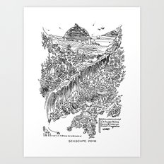 Seascape 2016 Art Print