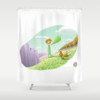 prince Shower Curtains featuring LITTLE PRINCE by David Pavon