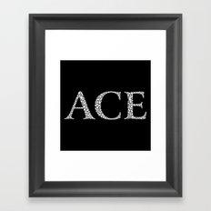 Ace of Spades - Variant Framed Art Print