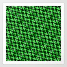 invaderstooth pattern Art Print