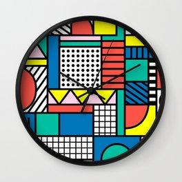 Memphis Color Block Wall Clock
