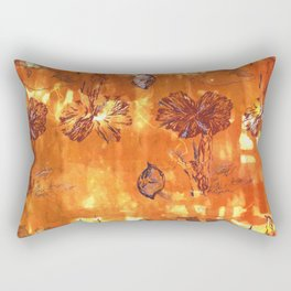 Autumn Colonisation Repeat Screen Print Umber, Lilac and Dioxazine Violet on cotton. Rectangular Pillow
