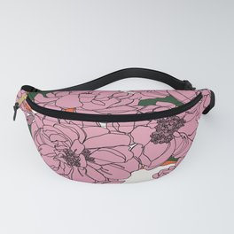 Peony flowers pattern - Floral 005 Fanny Pack
