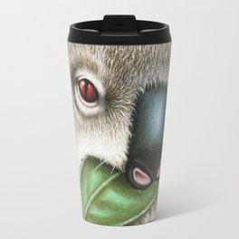 Koala Munching a Leaf Travel Mug