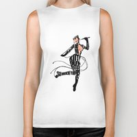 catwoman Biker Tanks featuring Catwoman by Ayse Deniz