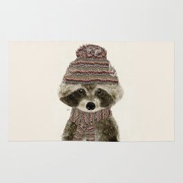 little indy raccoon Rug
