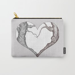 Two Trees in Love Sweetheart Valentine Illustration Carry-All Pouch