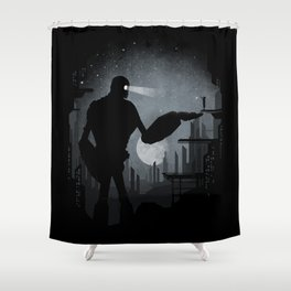 A Friendly Visit Shower Curtain