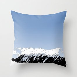 Mountains essentials - Snow and bright sky Throw Pillow