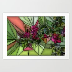 Pink and Green Glass Art Print