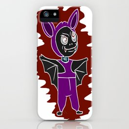 Halloween tshirt with a beautiful Horro motif for the creepy iPhone Case