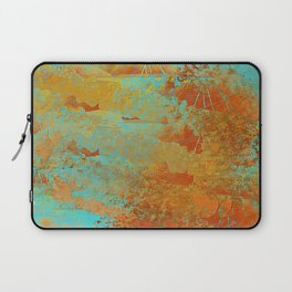 Turquoise and Copper-Red Laptop Sleeve