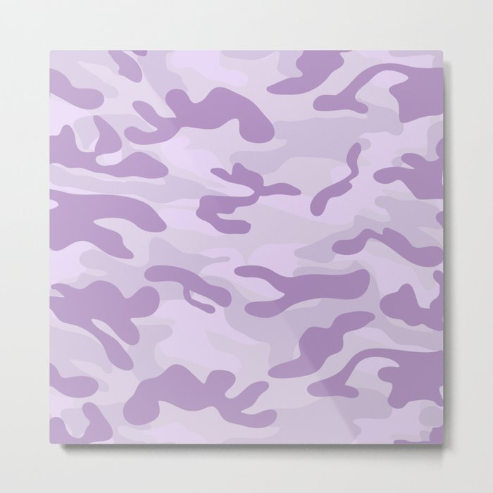 light Purple Military Camouflage Pattern Metal Print