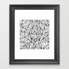 Ab Fan #2 White Framed Art Print