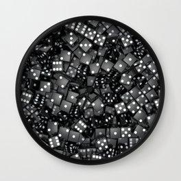 Black dice Wall Clock