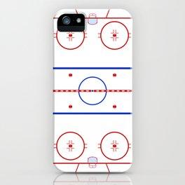 Ice Hockey Rink Diagram iPhone Case