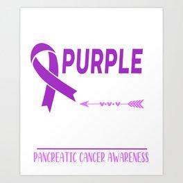 I Wear Purple For My Friend Art Print