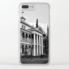 Haunted Victorian Mansion Clear iPhone Case