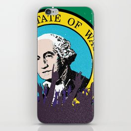 Washington State Flag with Audience iPhone Skin