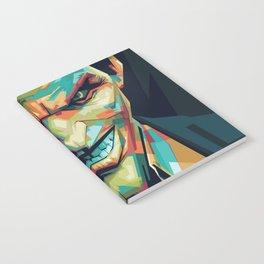 Joker Pop Art Portrait Notebook