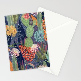 Modern Cactus Print Stationery Cards