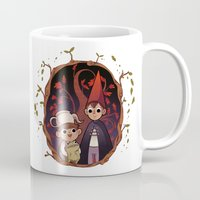 over the garden wall Mugs featuring Over the garden wall by Willow