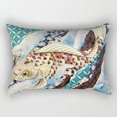 Playing Koi Rectangular Pillow
